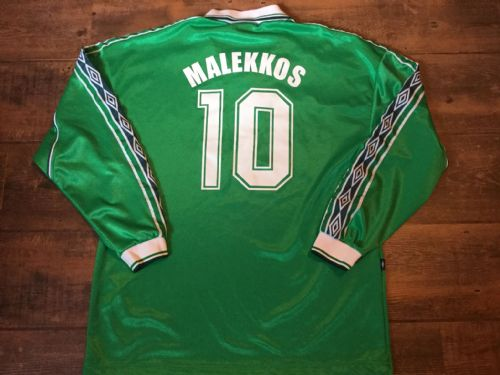 1999 2000 Omonia Nicosia L/s Malekkos No 10 Football Shirt Adults Large